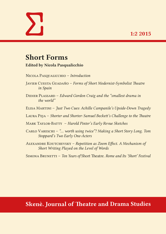 View Vol. 1 No. 2 (2015): Short Forms