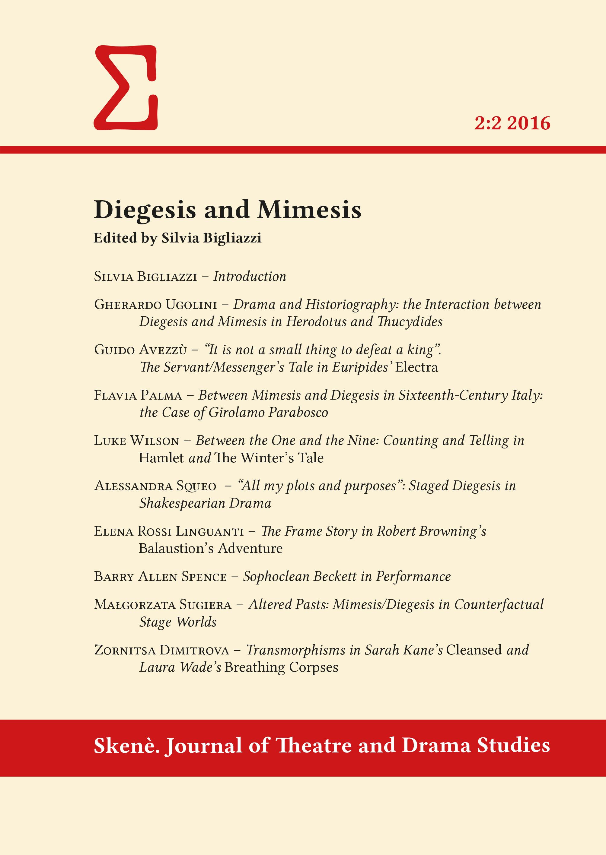 View Vol. 2 No. 2 (2016): Diegesis and Mimesis